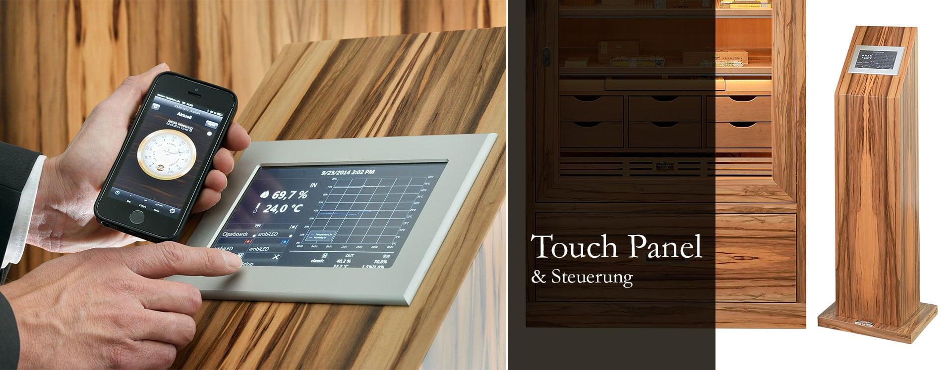 GERBER Humidor Touch Panel & Steuerung